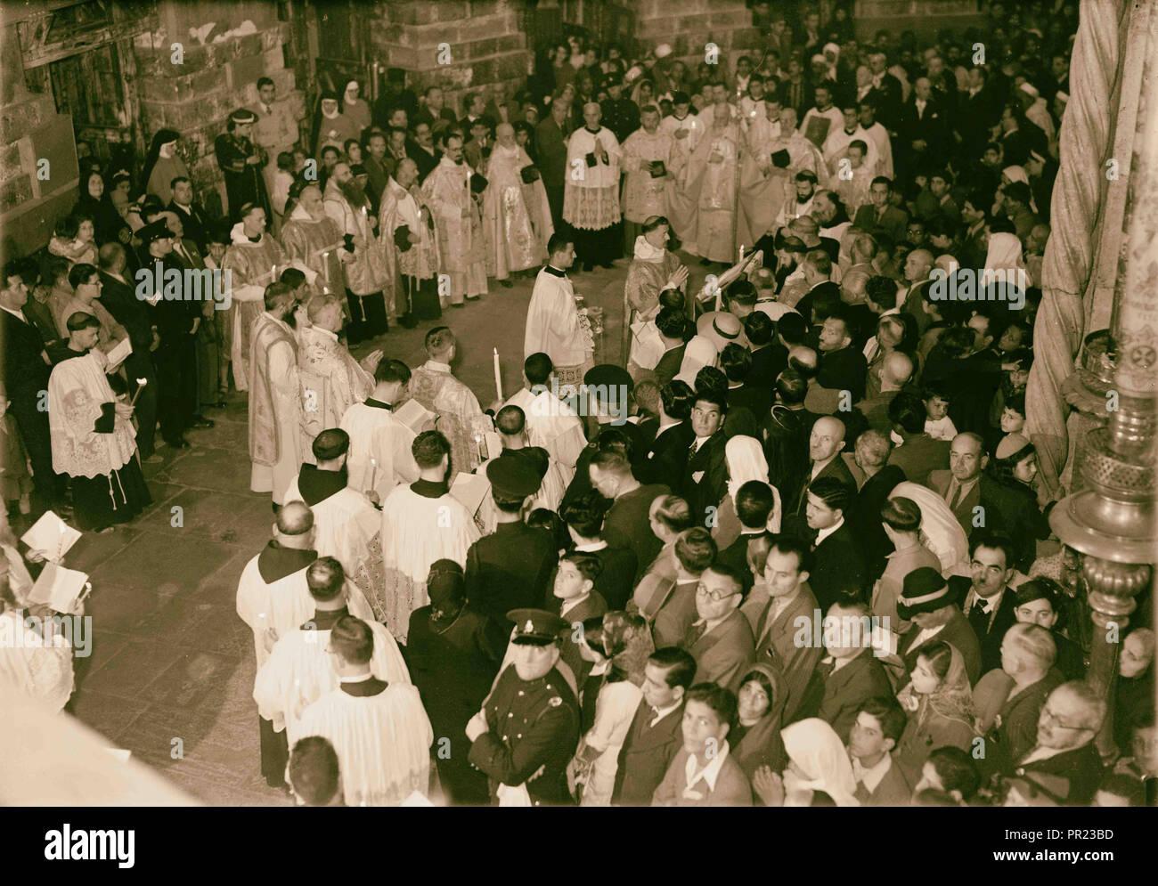 Calendrier 1941.Calendrier Des Ceremonies Religieuses A Jerusalem A Paques