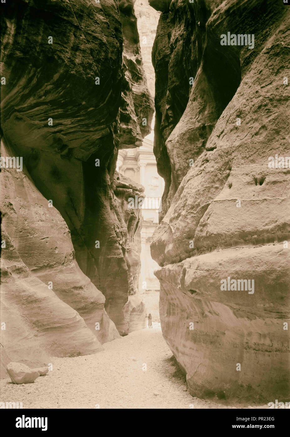 Petra. Khazne & Sik. 1940, Jordanie, Petra, la ville disparue Photo Stock