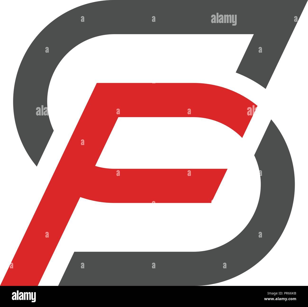 Lettre SF Logo design illustration vectorielle, modèle de lettre S ...