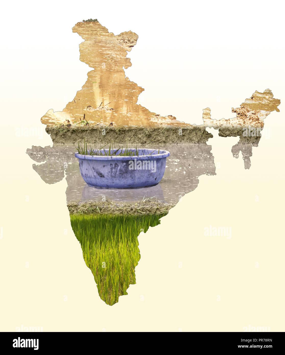 Carte Inde Agriculture.Carte De L Inde Dans Le Domaine De L Agriculture Domaine