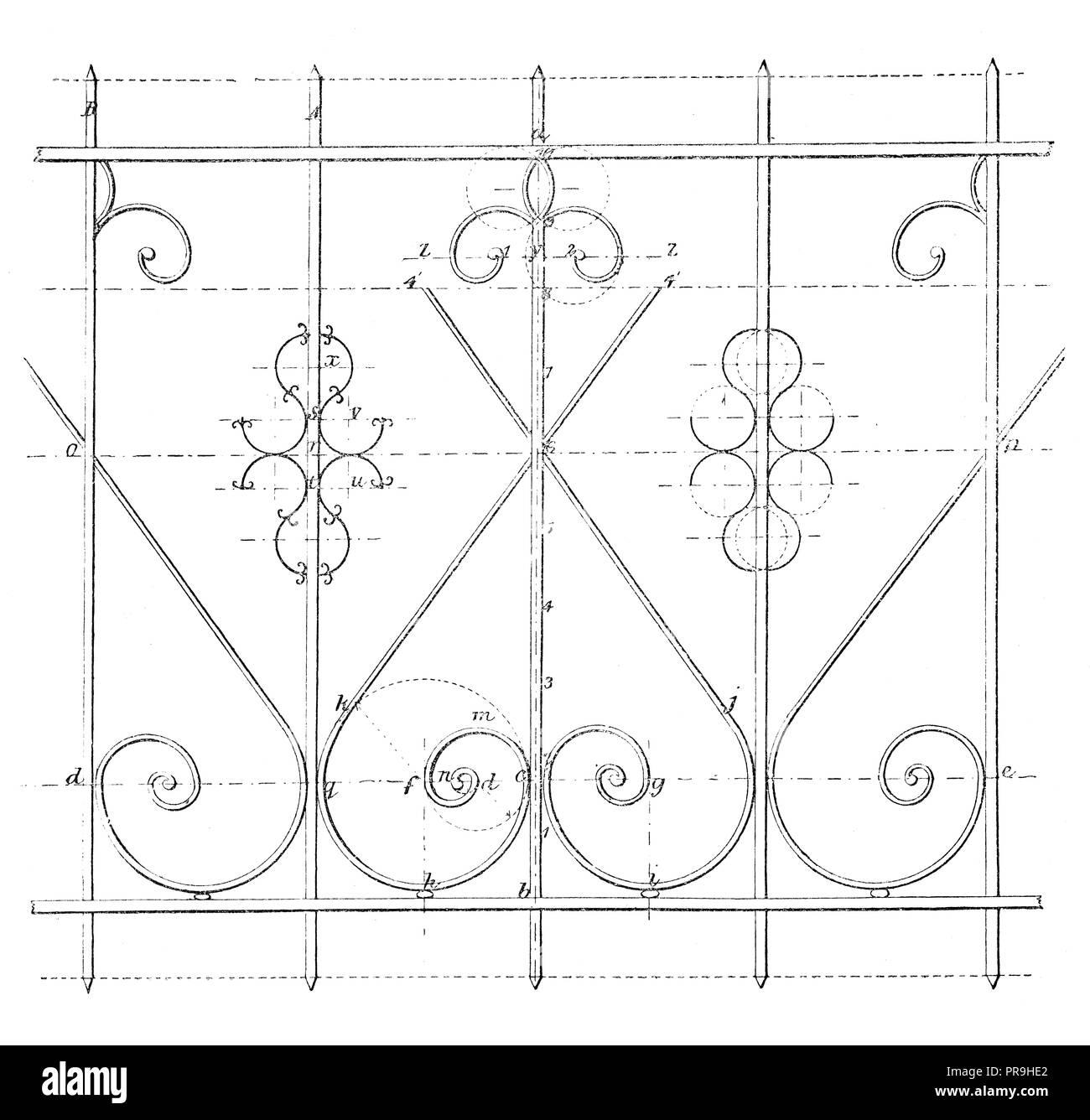 19ème Siècle Illustration Dun Dessin Dun Caractère Simple