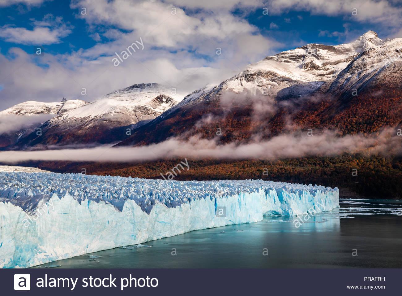 Perito Moreno Glacier National Park en automne. L'Argentine, Patagonie Photo Stock