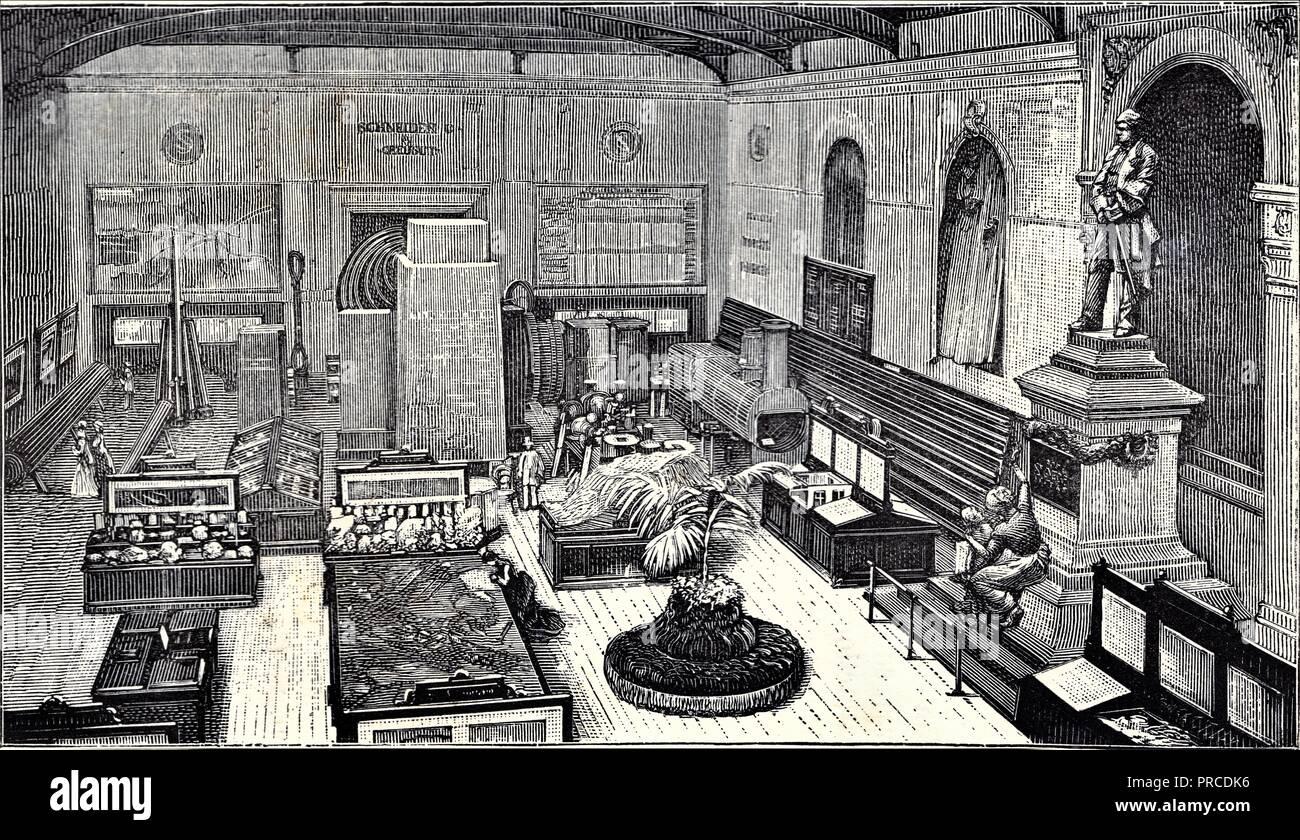 Intérieur du pavillon de Creusot. Côté gauche. Banque D'Images