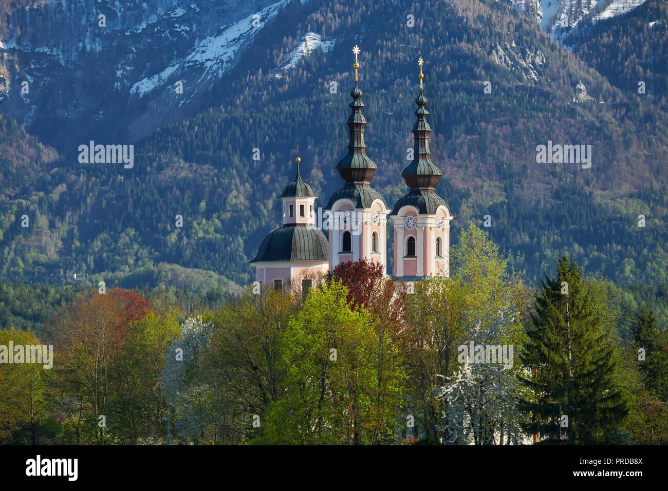 Église de pèlerinage à la Sainte Croix, Villach, Carinthie, Autriche Photo Stock
