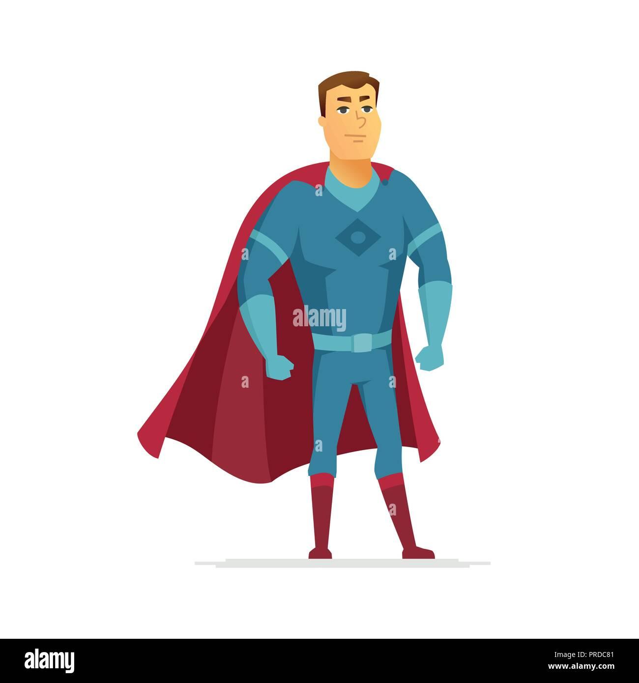 Super Heros De Dessin Anime Moderne Image De Couleurs De Caracteres Des Gens Image Vectorielle Stock Alamy