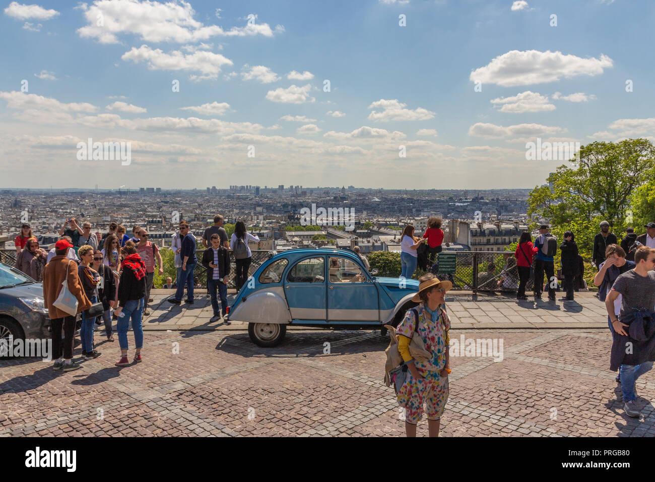 Une superbe vue sur la ville de Paris, Montmartre Banque D'Images