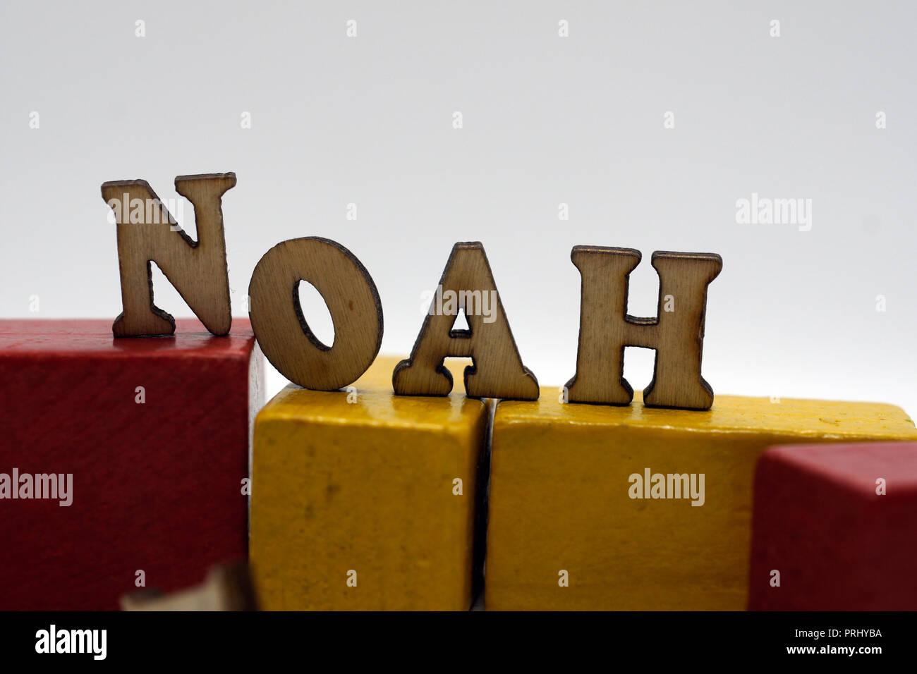 Hommes populaires prénom Noé Photo Stock
