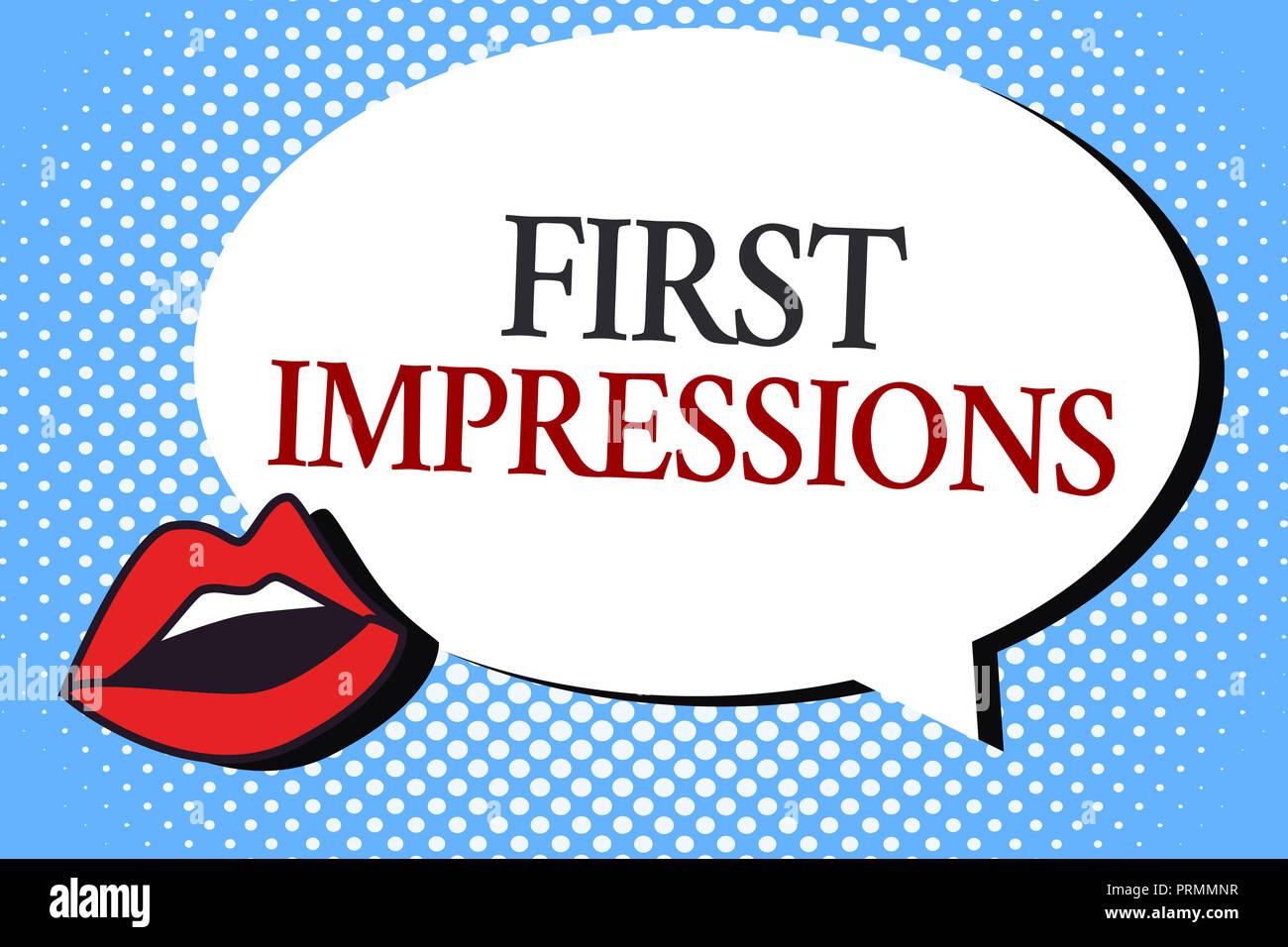 6440cba3728 Écrit remarque montrant les premières impressions. Photo d affaires mettant  en valeur ce qu une personne pense de vous lorsqu ils vous rencontrent.
