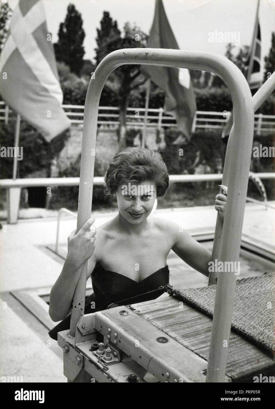 L'actrice française Magali Noel, 1950 Photo Stock