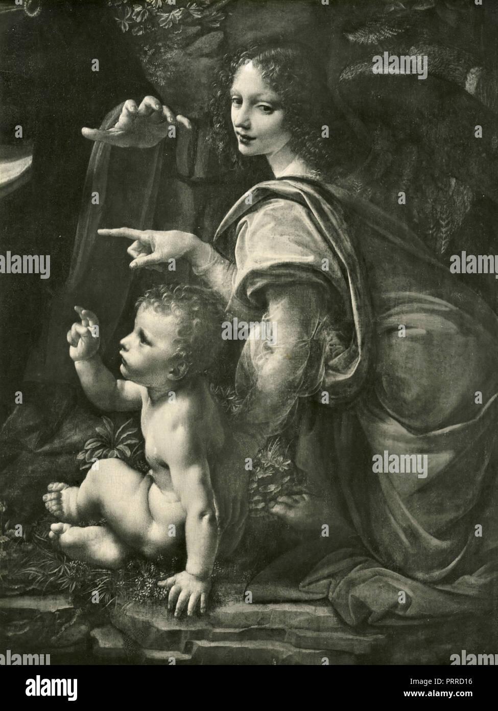 La Vierge Aux Rochers La Peinture De Leonard De Vinci 1920 Photo Stock Alamy