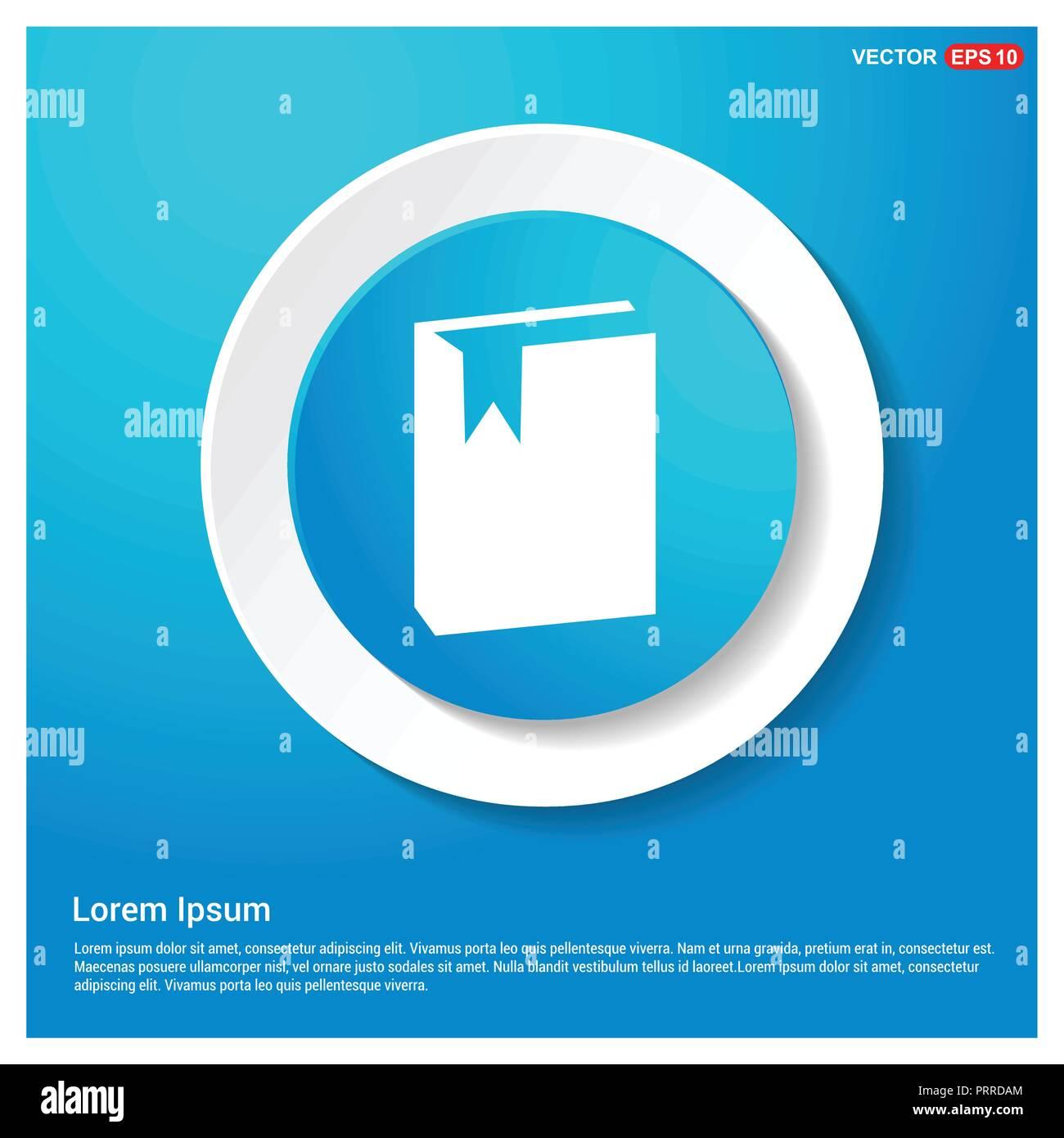 Icone Livre Bleu Abstrait Autocollant Web Bouton Icone