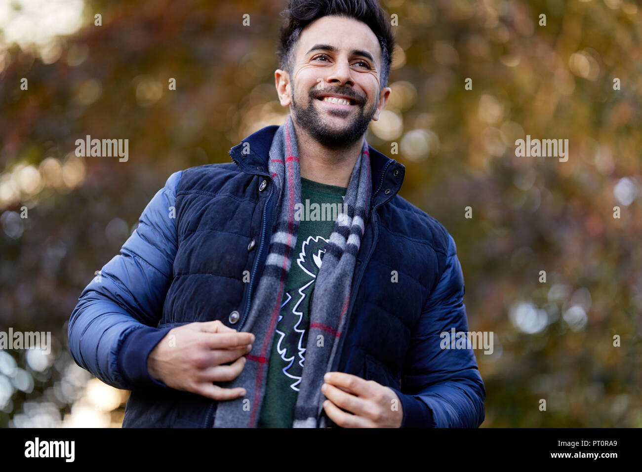 Man Walking outdoors Photo Stock