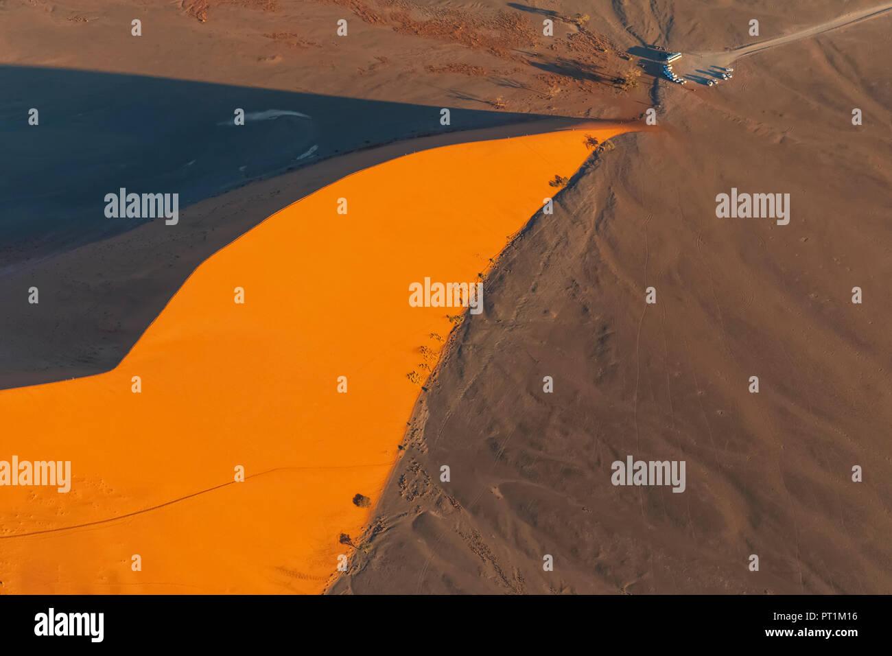 L'Afrique, la Namibie, le désert de Namib, Namib-Naukluft National Park, vue aérienne du désert dune 45 Banque D'Images