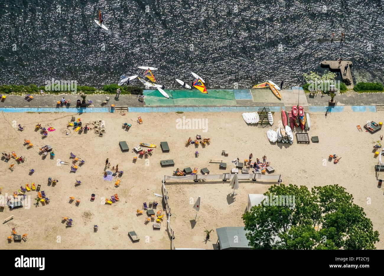 Seaside Beach Baldeney Baignant Dans La Ruhr La Baignade Dans Le Baldeneysee Lido Beach Volley Ball
