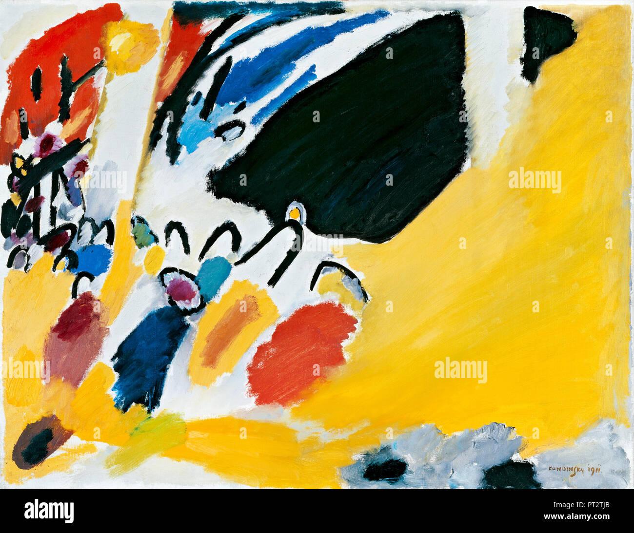 Wassily Kandinsky, Impression III, Concert 1911 Huile sur toile, Staedtische galerie dans Lenbachhaus Kunstbau, et l'Allemagne. Photo Stock