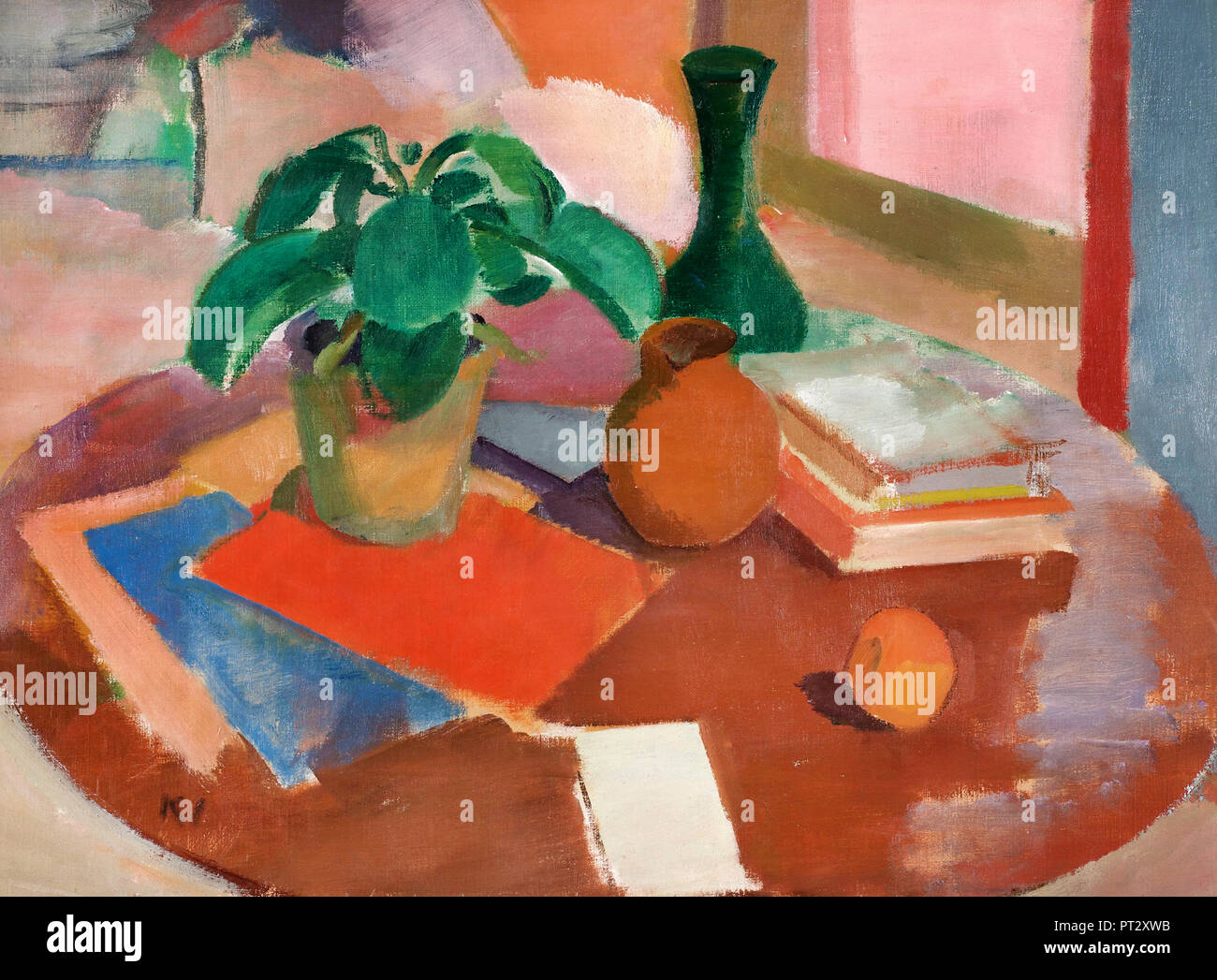 Karl Isakson, Still Life 1916 Huile sur toile. Photo Stock