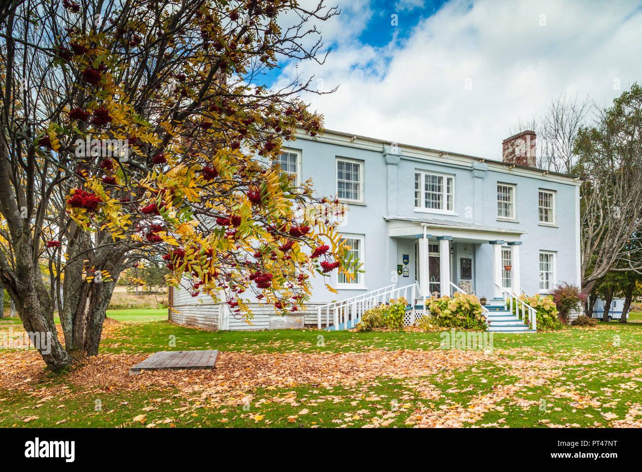 Canada, Québec, Gaspésie, New Carlisle, Hamilton House, ancienne maison du Parlement canadien, membre 1852 Banque D'Images