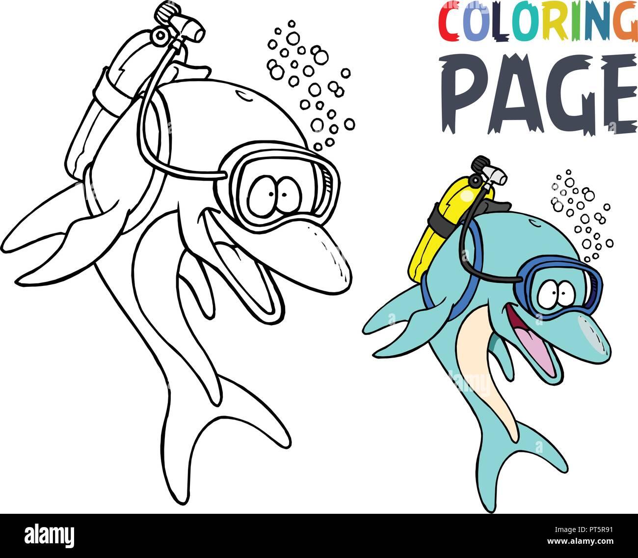 Coloriage Crabe Dauphin.Page Du Livre De Coloriage Dauphin Photos Page Du Livre De