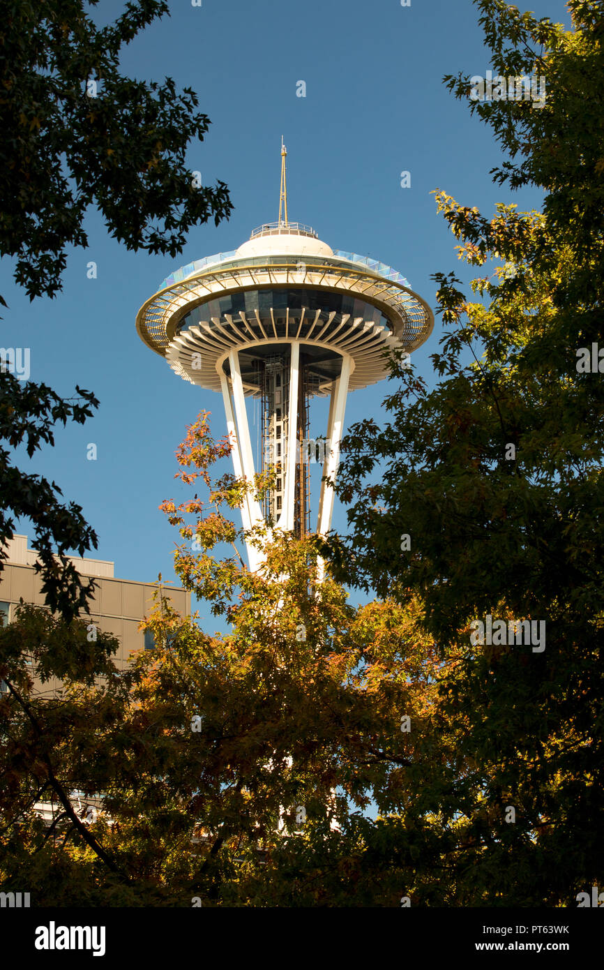 Seattle Space Needle. Photo Stock