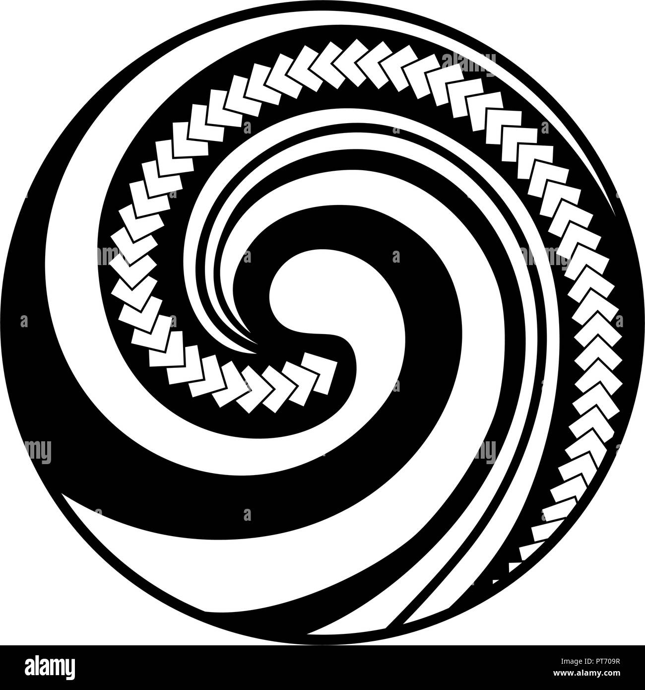 Koru Symbole Maori Est Une Forme En Spirale Fondee Sur Silver Fern