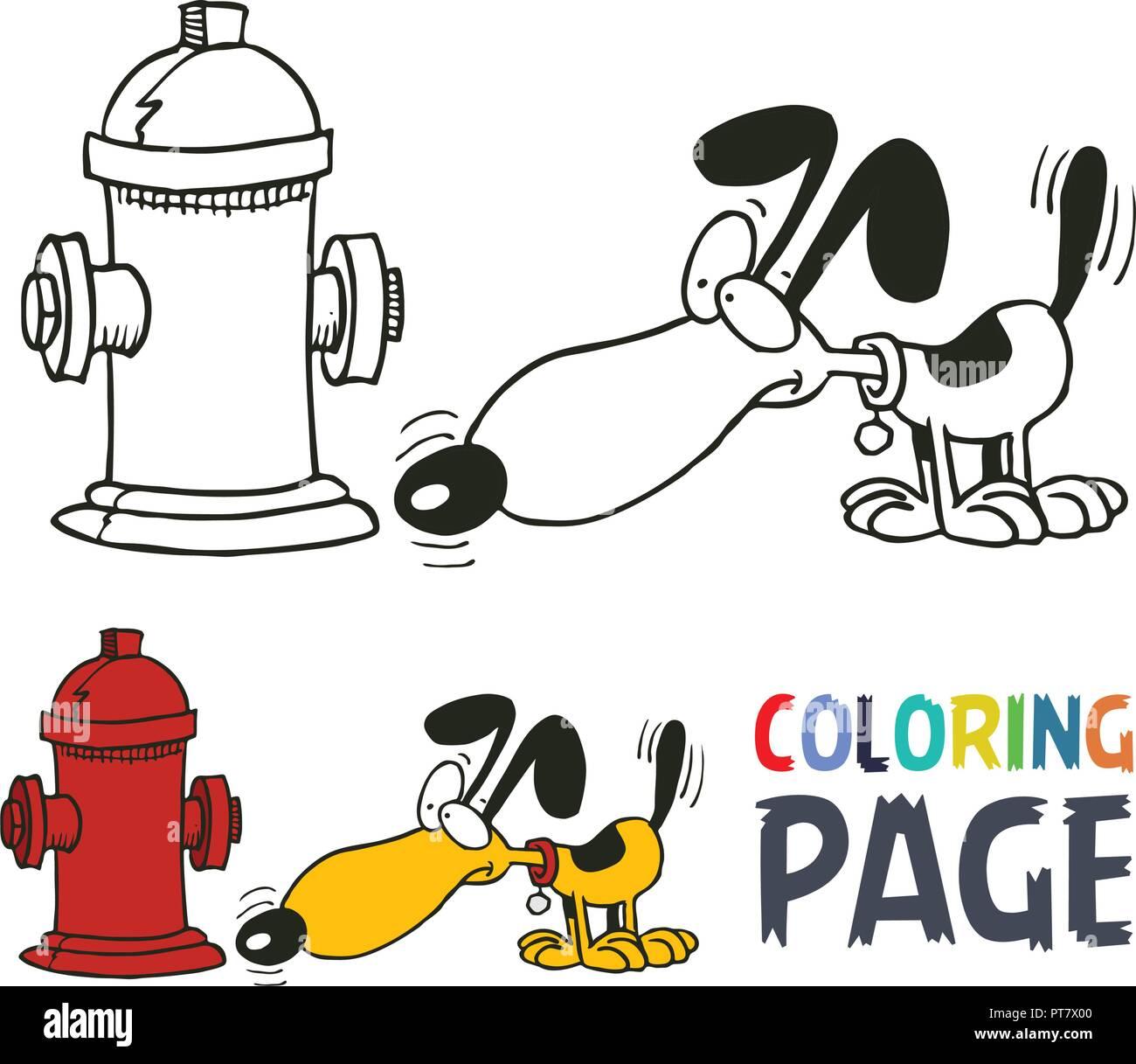 Coloriage Dessin Animé Chien Vecteurs Et Illustration Image