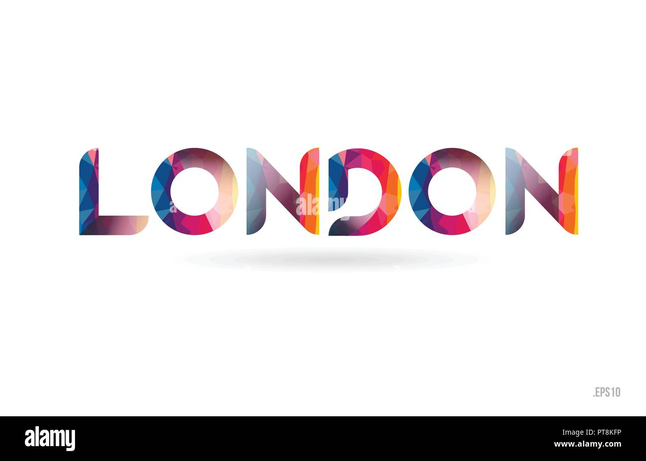 Arc En Ciel De Couleur Londres Mot Texte Adapt Pour Carte Visite Brochure Ou Typographie Logo Design