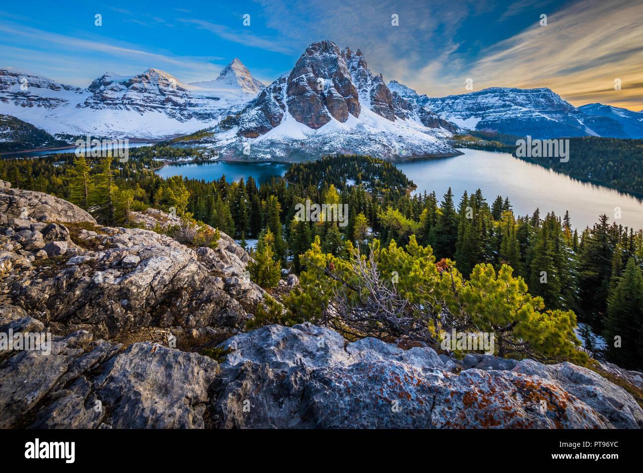 Le parc provincial du mont Assiniboine est un parc provincial de la Colombie-Britannique, Canada, situé autour du mont Assiniboine. Le parc a été créé en 1922. S Photo Stock