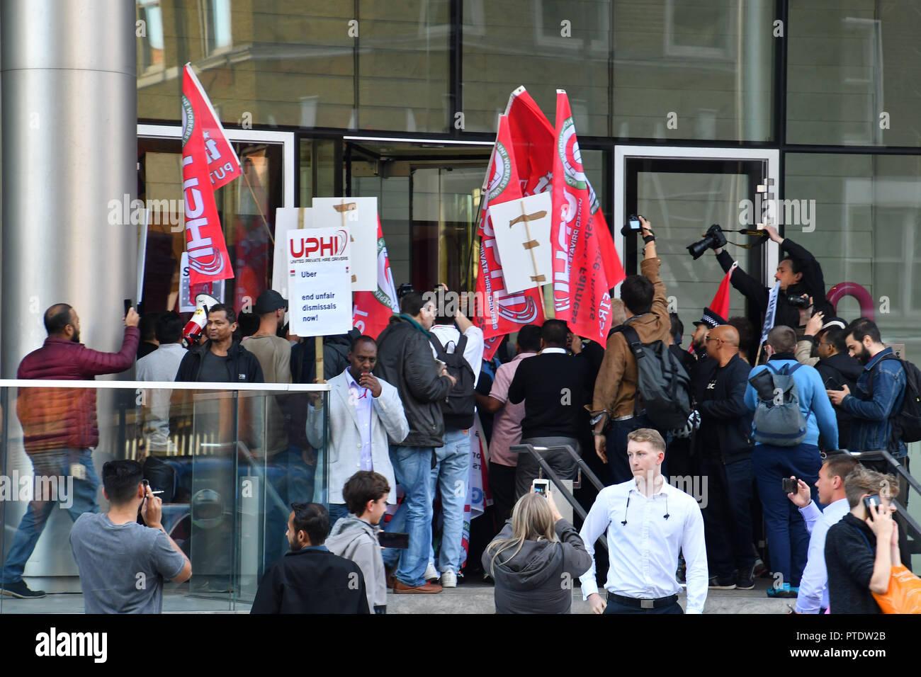 Londres royaume uni. 9 octobre 2018. les manifestants essayant de
