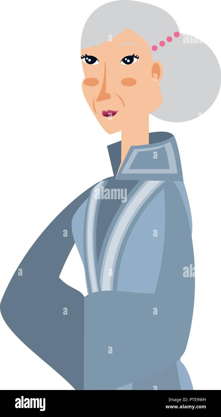 Femme de caractère chinois avatar vector illustration design Illustration de Vecteur