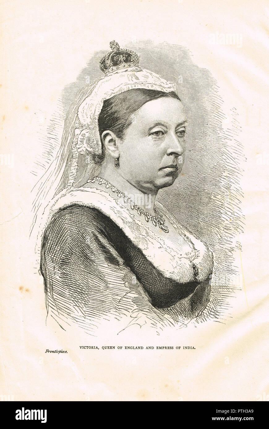 La reine Victoria, vers 1876 Photo Stock