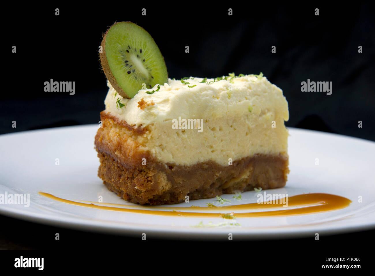 La Taverne des bénévoles, les kiwis cheesecake Photo Stock