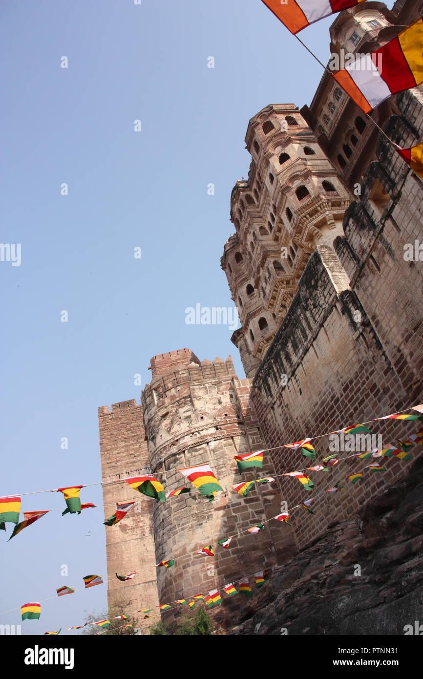 La forteresse Mehrangarh à Jodhpur en Inde Photo Stock