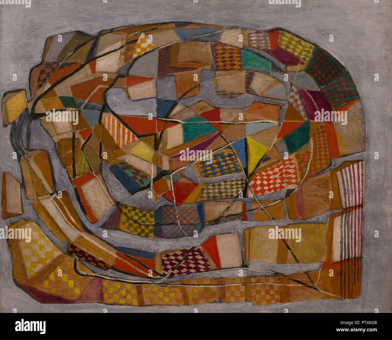 Composition, Maria Helena Vieira da Silva, 1936-1937, Art Institute of Chicago, Chicago, Illinois, USA, Amérique du Nord Photo Stock