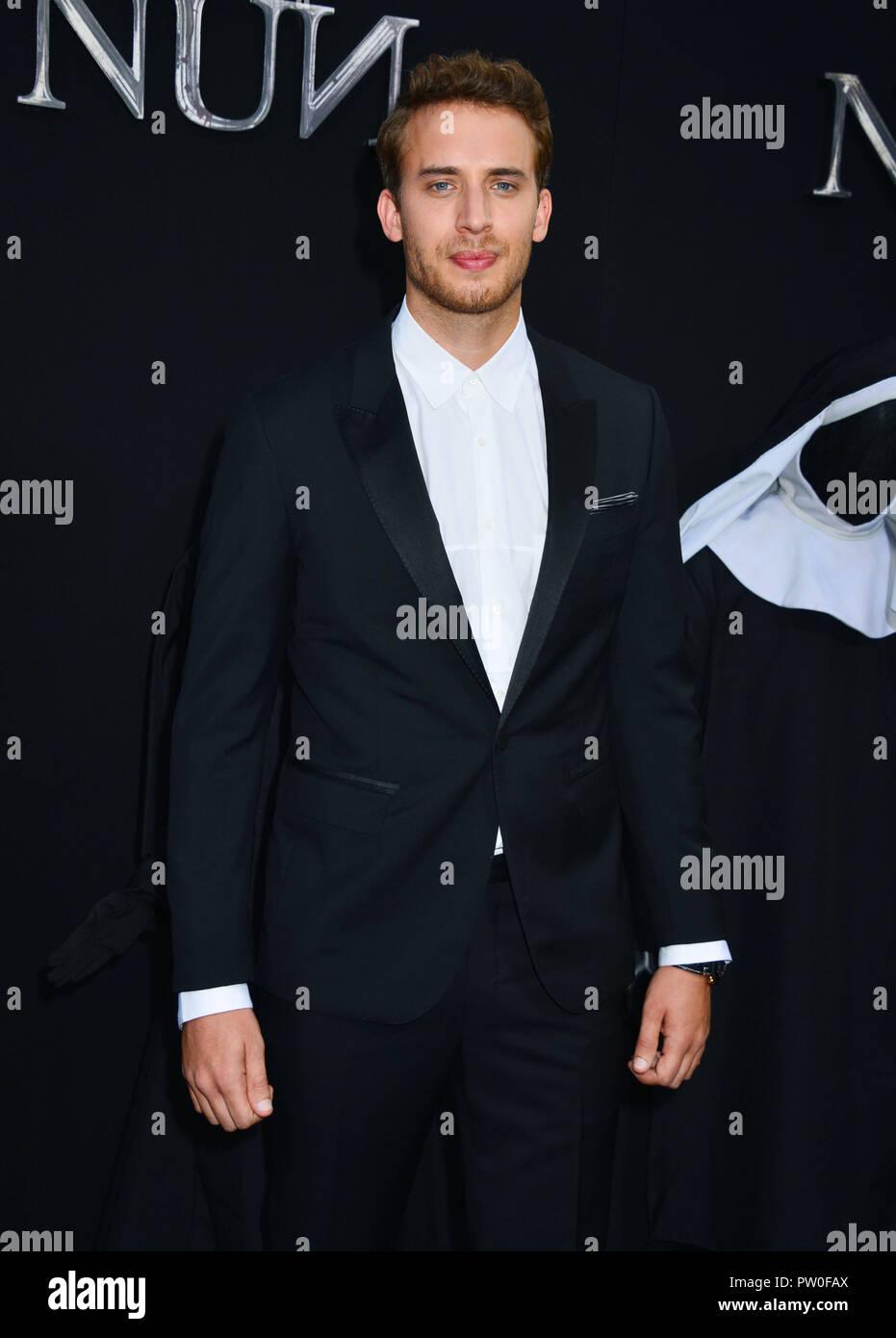 Jonas Bloquet 063 assiste à la première de Warner Bros Pictures' 'La Nun' le 4 septembre 2018 à Hollywood, Californie Photo Stock