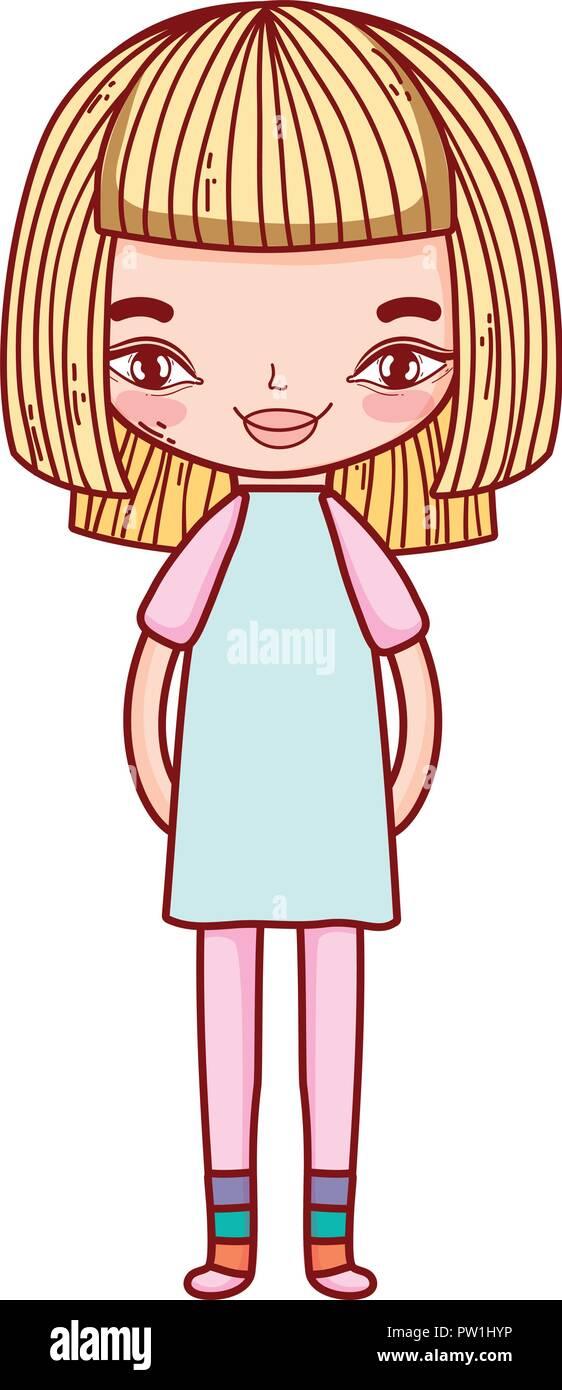 Petite Fille Dessin Mignon Vecteurs Et Illustration Image