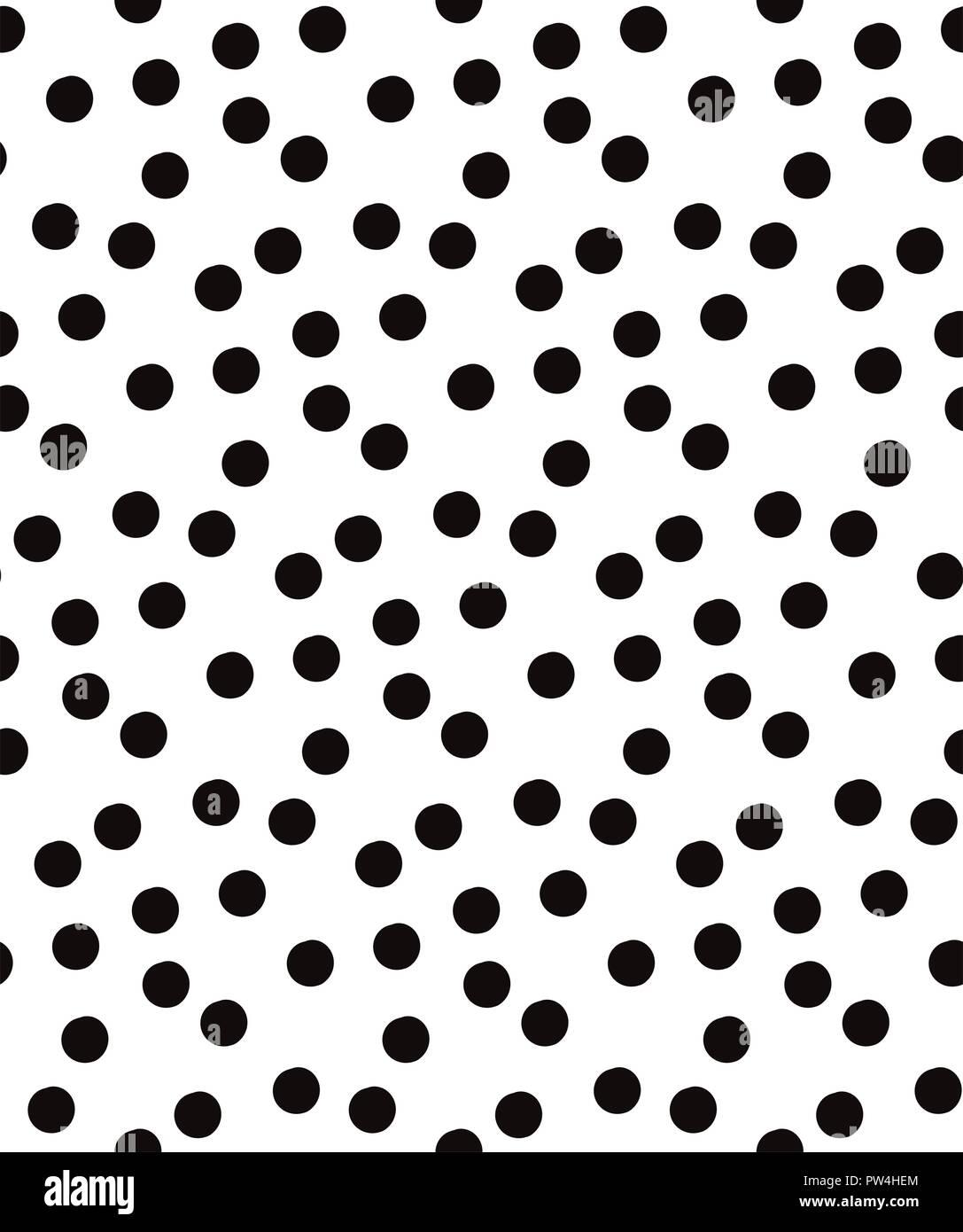 Attrayant Pois Noir Vecteur Seamless Pattern Sur Fond Blanc. Parfait Pour Tissu,  Patchwork, Scrapbook Paper, Le Papier Peint Et De Lu0027artisanat