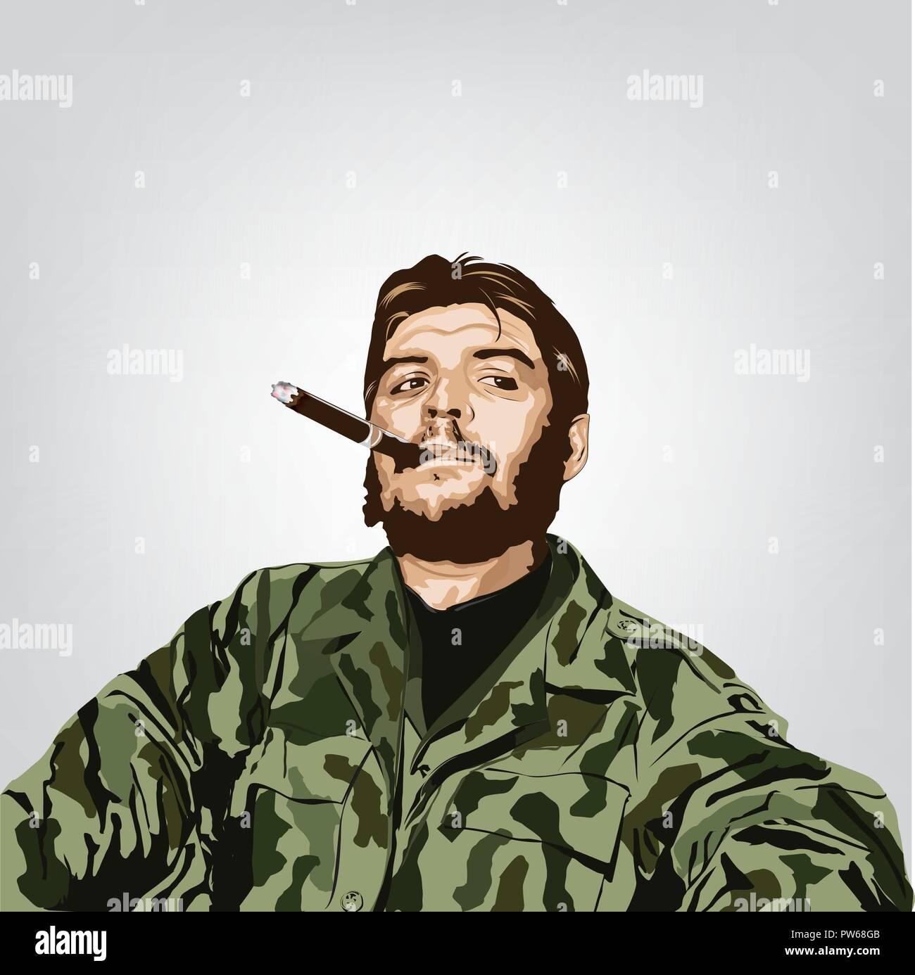 wholesale dealer f5b4e 857bd Ernesto  Che  Guevara(1928 - 1967 ) était un révolutionnaire marxiste. Une  grande figure de la révolution cubaine. Image Vecteur de Che Guevara,