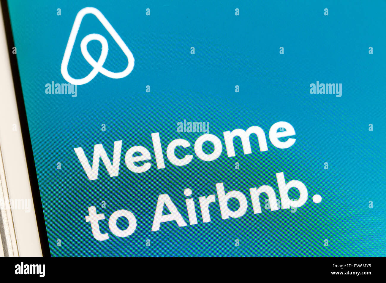 Airbnb app sur iPhone - USA Photo Stock