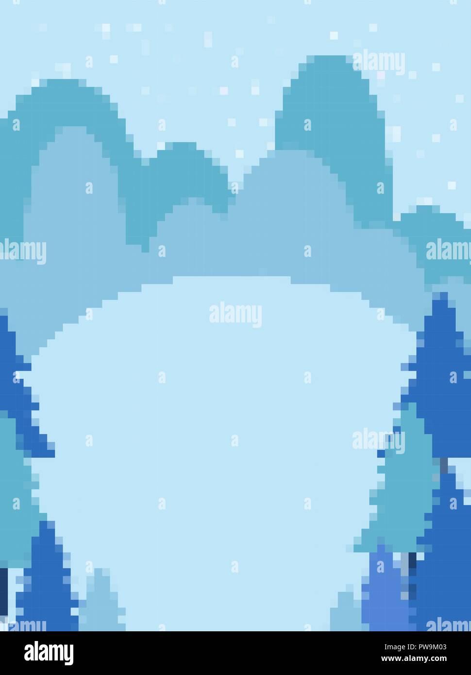 Paysage Dhiver Et Neige Pixel Art Snowdrift 8 Peu De Fond