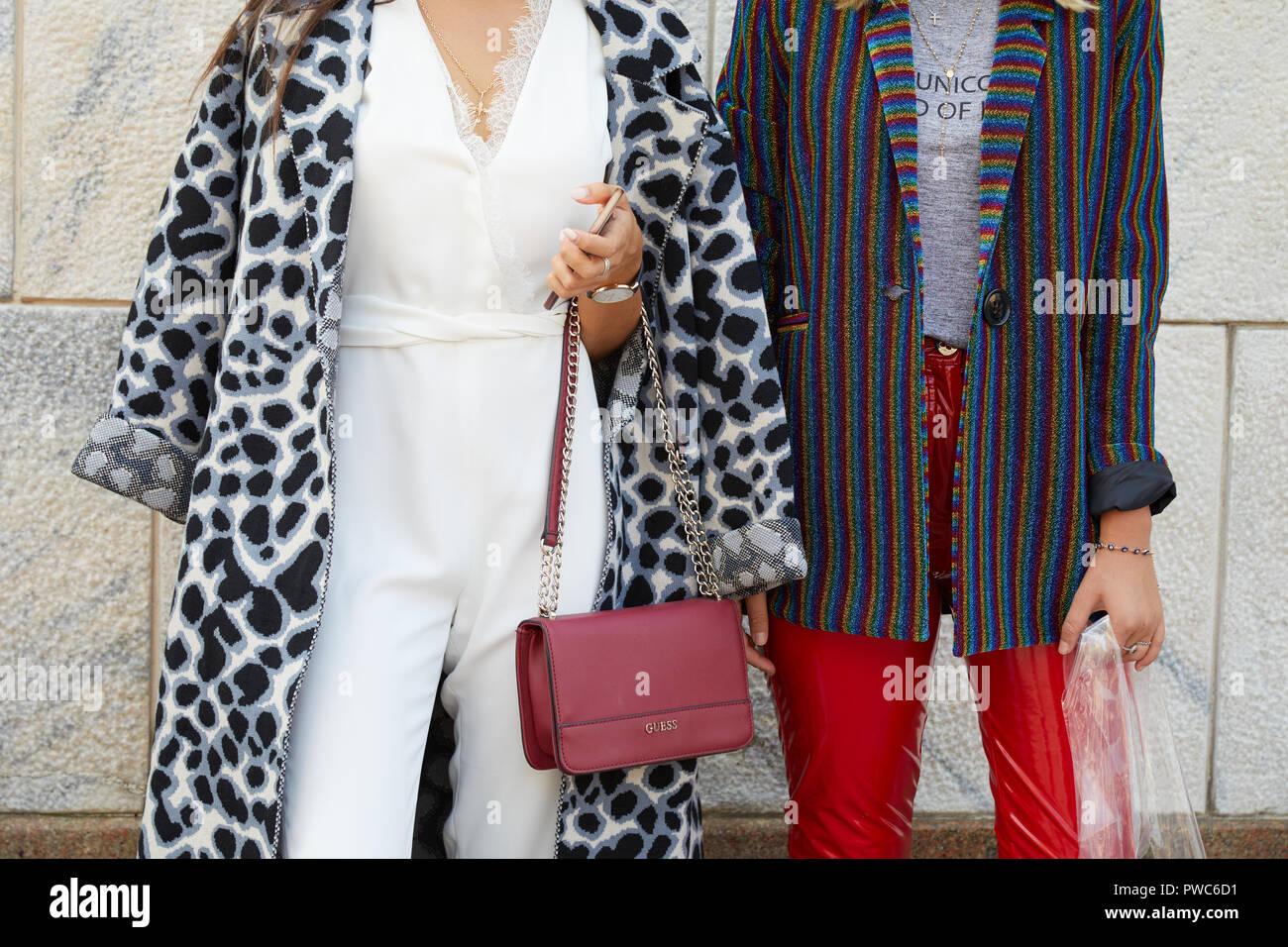 Gris Blanc Les Rayures De Italie Noir 2018 20 Manteau Femmes Que Et Guess Milan Genny Sac Veste Septembre Paillettes Colorées Des Avant À SzPwq