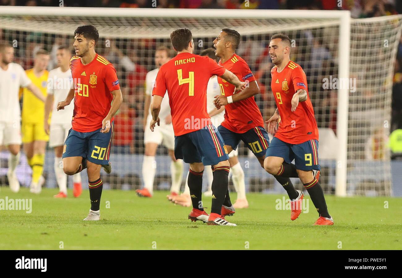 Seville Espagne 15 Octobre 2018 Marcos Asensio Espagne Et