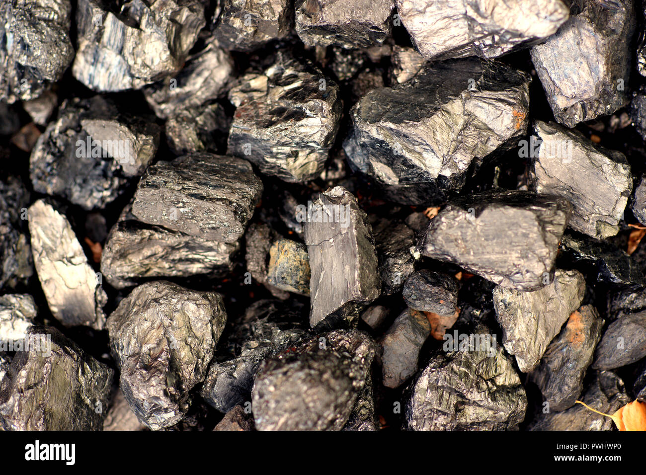 Combustibles fossiles - charbon - close-up Photo Stock