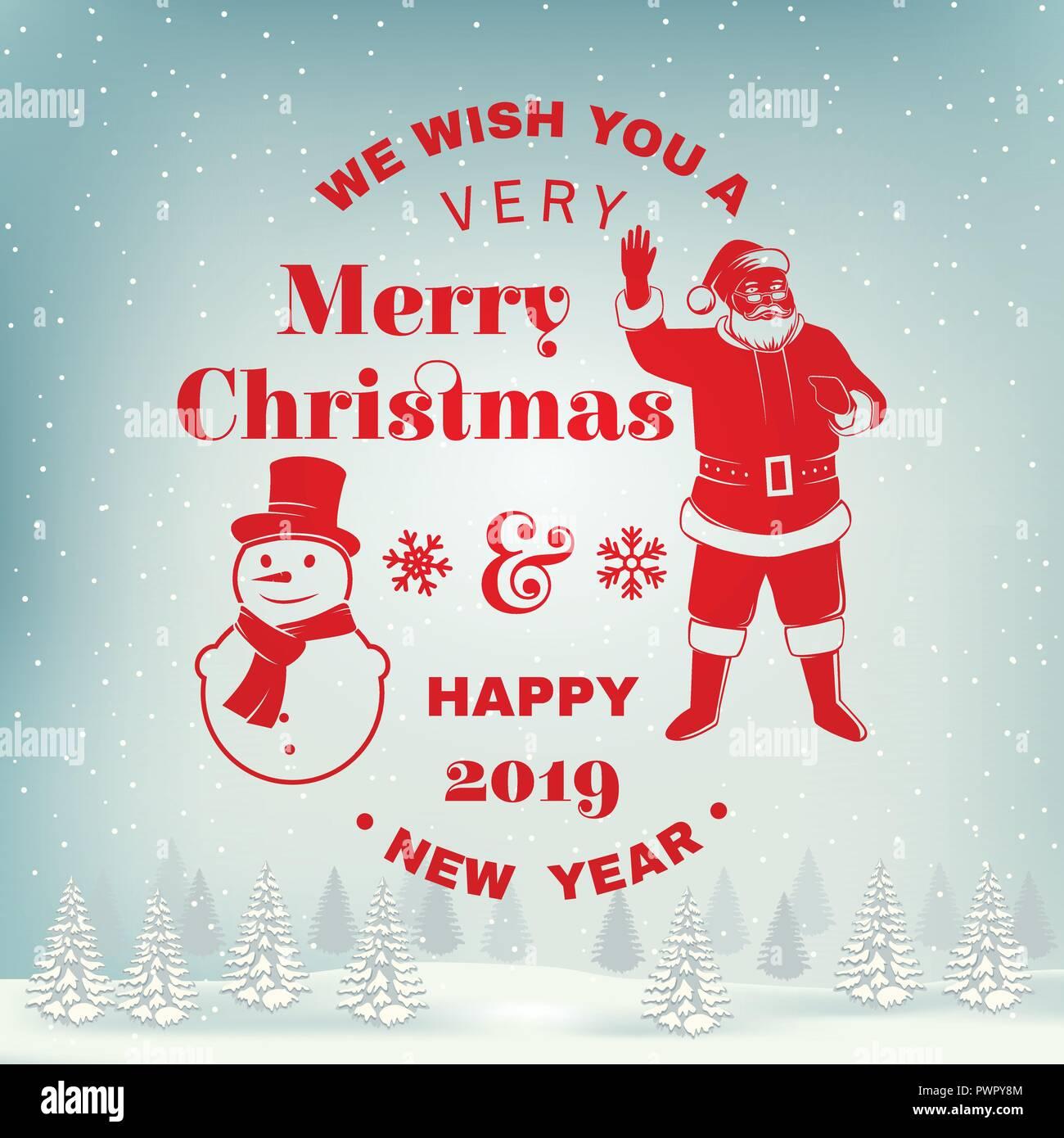 35f0ba5c25c5 Nous vous souhaitons un très joyeux Noël et Bonne Année stamp