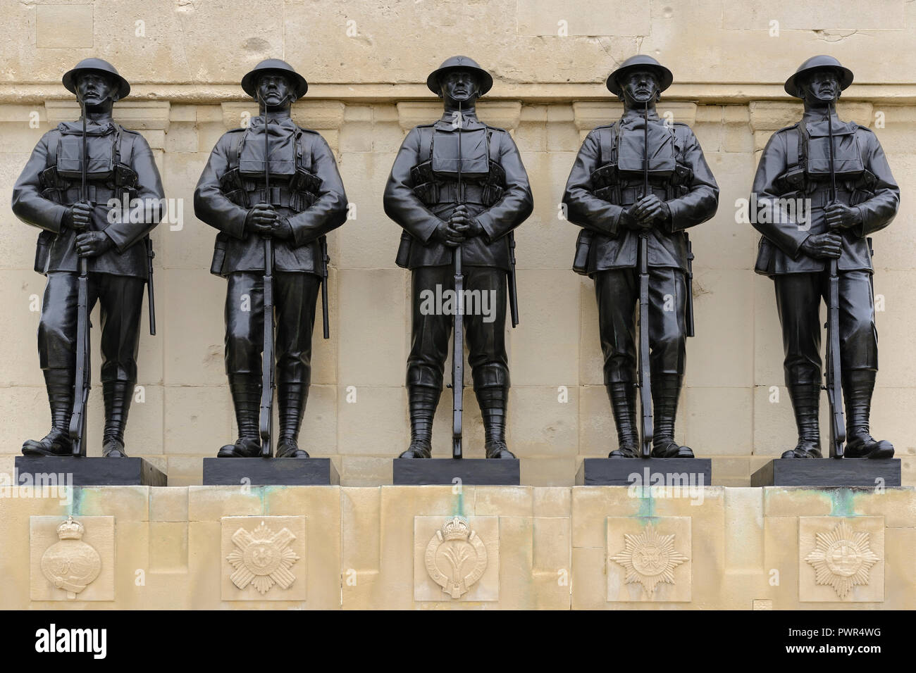 Les Gardes Memorial, St James Park, Horse Guards Parade, Londres, Royaume-Uni Photo Stock