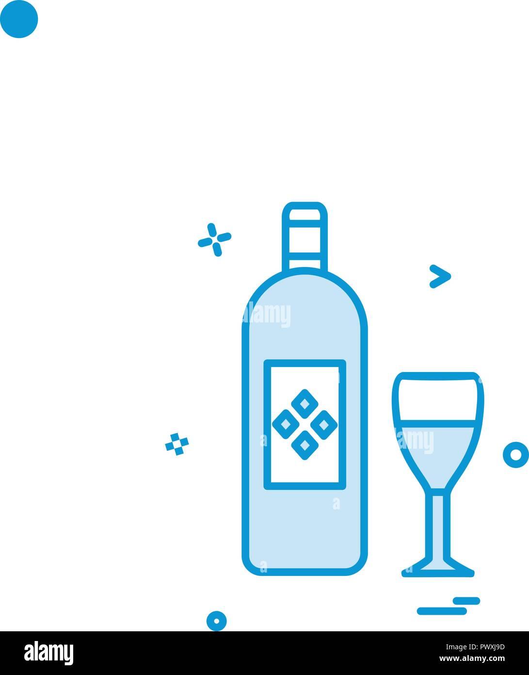verre bouteille verre design vecteur icône vecteurs et illustration