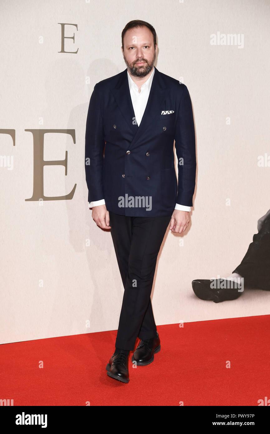 Londres, Royaume-Uni. 18 octobre 2018: Yorgos Lanthimos au London Film Festival de 'la Favorite' at the BFI South Bank, Londres. Photo: Steve Sav/Featureflash Crédit: Paul Smith/Alamy Live News Banque D'Images