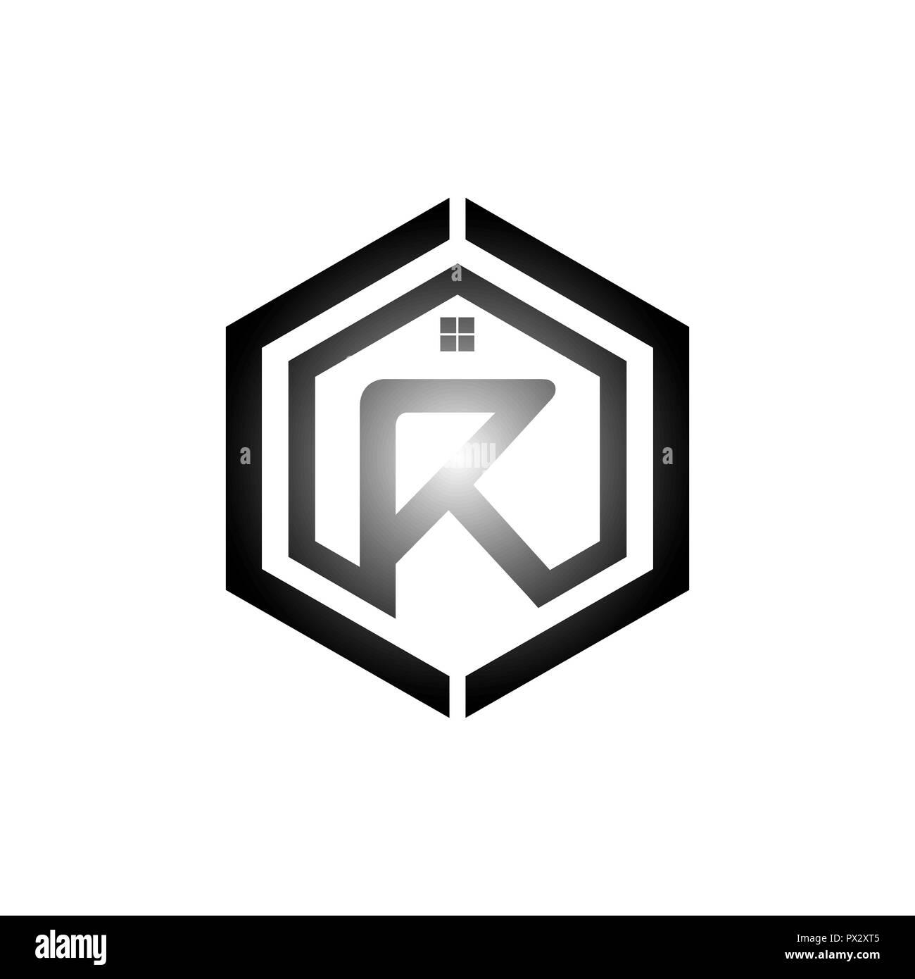 Lettre R Avec Llment De Conception Logo Carte Visite Illustration Logotype Vectoriel Template