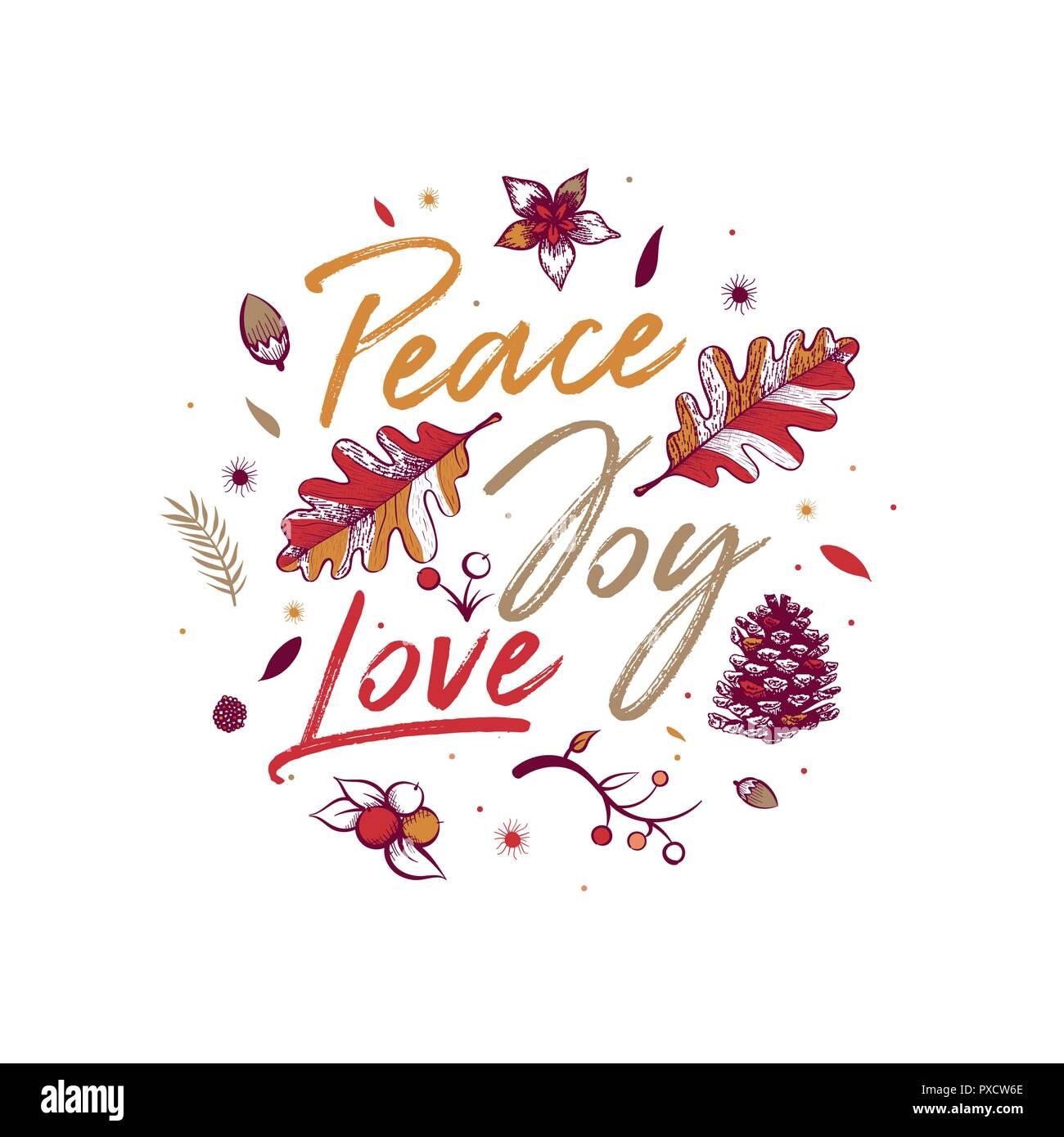 La Paix La Joie Lamour Carte De Vœux De Noël Avec La