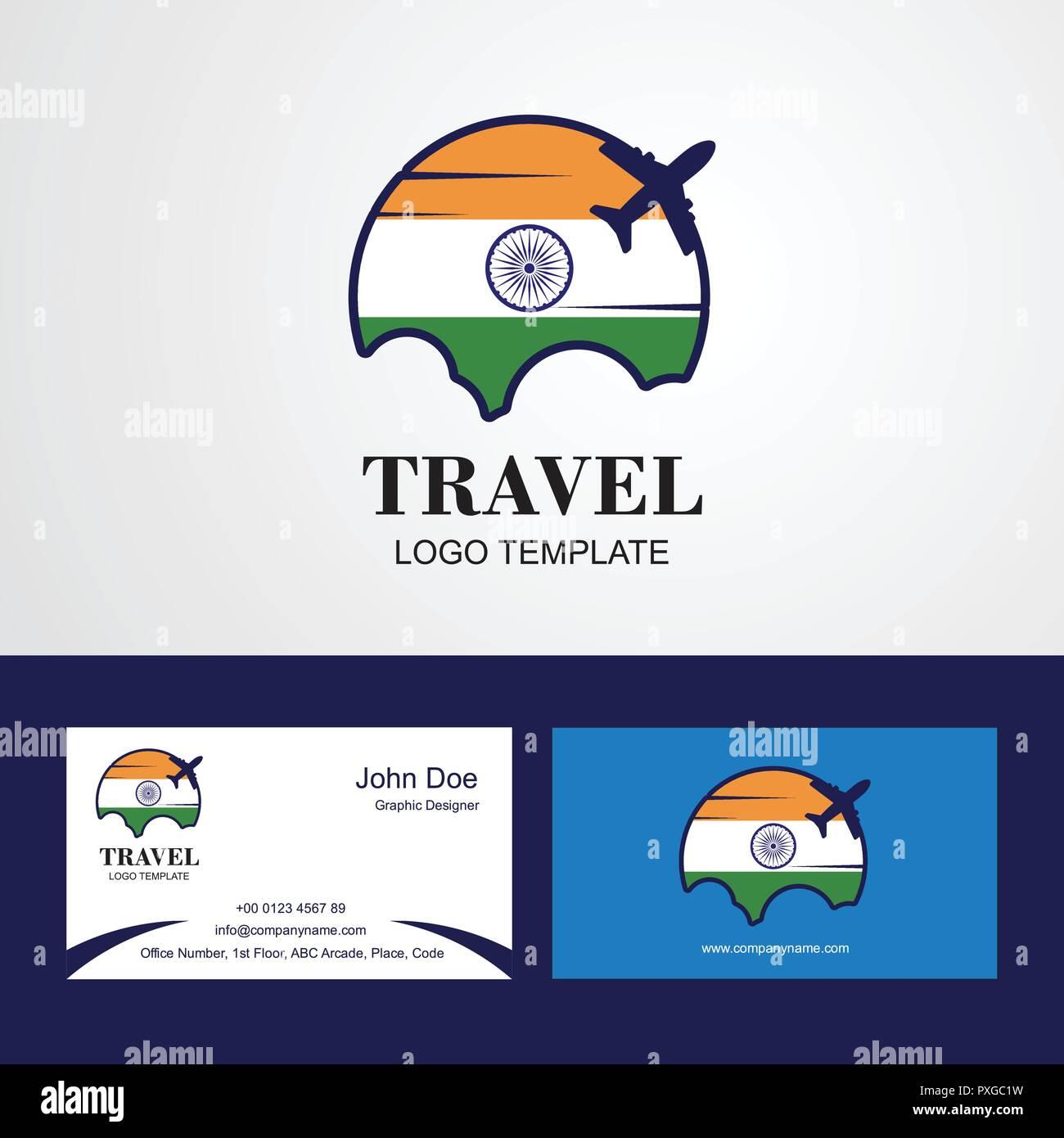 Carte Visite Inde.Drapeau De L Inde Voyage Carte De Visite Et Logo Design