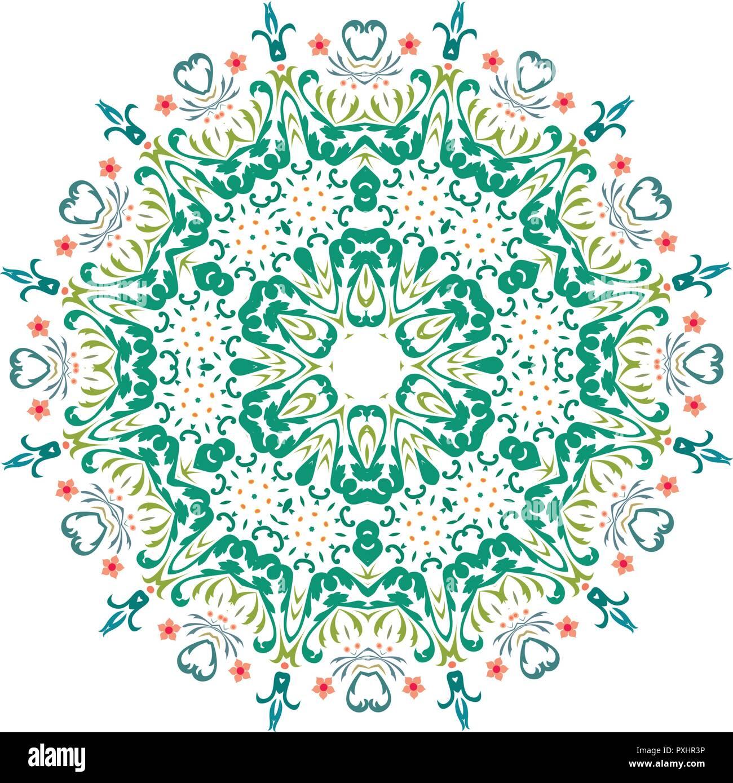 Mandala Mandala Vecteur Floral Mandala Mandala Fleur Oriental